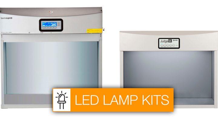A X-Rite lança kits de lâmpadas de LED para cabines de iluminação
